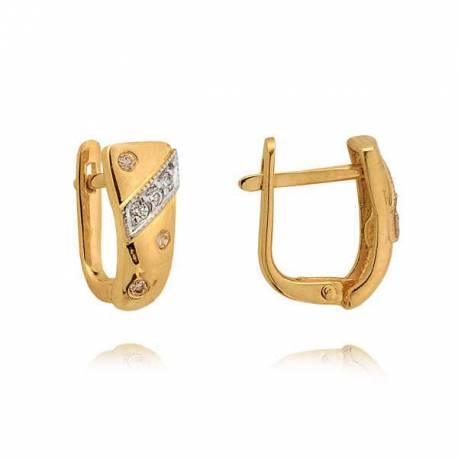 Kolczyki złote z cyrkoniami N106K