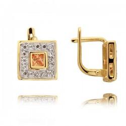 Kolczyki złote z cyrkoniami N132K