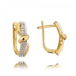 Kolczyki złote z cyrkoniami N134K