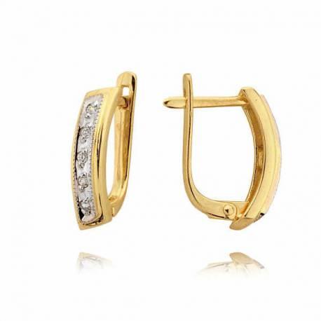 Kolczyki złote z cyrkoniami N136K