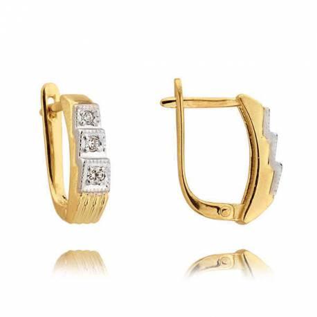 Kolczyki złote z cyrkoniami N142K
