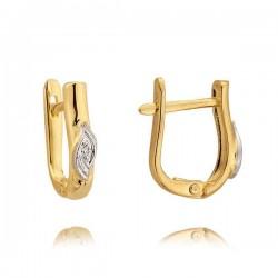 Kolczyki złote z cyrkoniami N164K