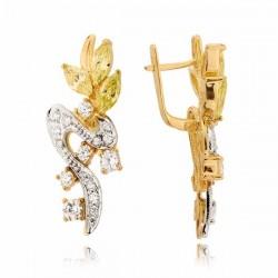 Kolczyki złote z cyrkoniami N193K