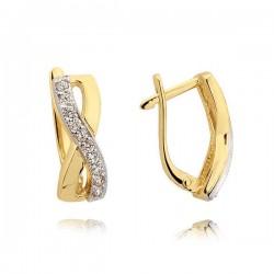 Kolczyki złote z cyrkoniami N206K