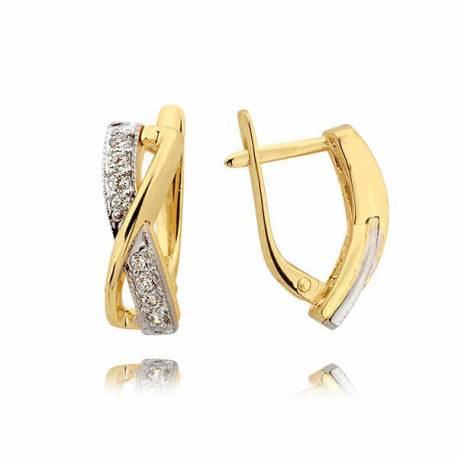 Kolczyki złote z cyrkoniami N207K
