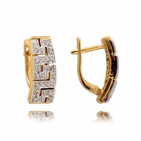 Kolczyki złote z cyrkoniami N227K