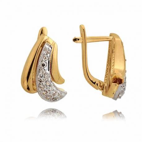 Kolczyki złote z cyrkoniami N232K