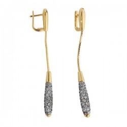 Kolczyki złote z cyrkoniami N233K