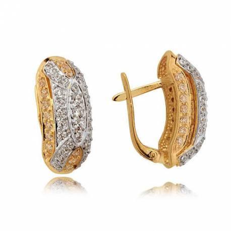 Kolczyki złote z cyrkoniami N272K