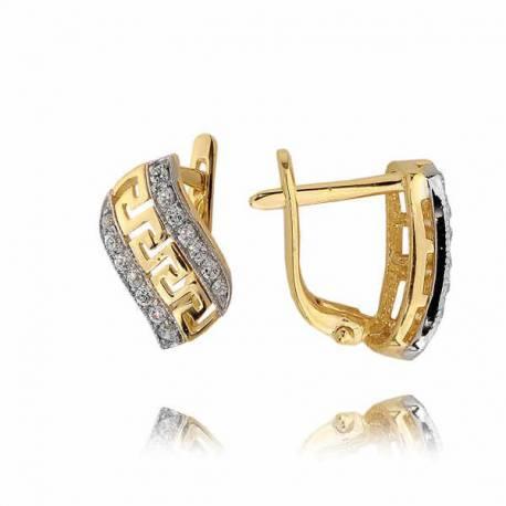 Kolczyki złote z cyrkoniami N293K