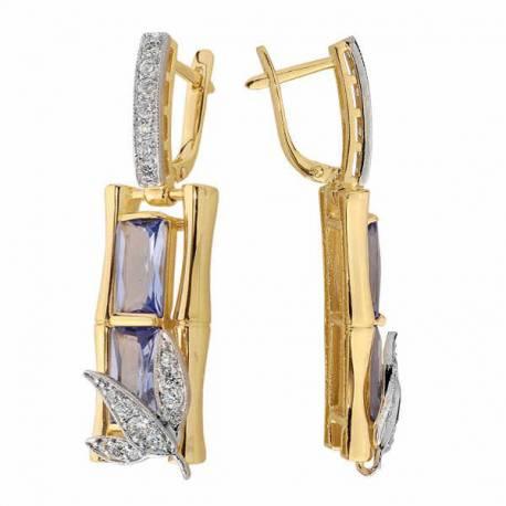 Kolczyki złote z cyrkoniami N294K