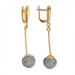 Kolczyki złote z cyrkoniami N296K