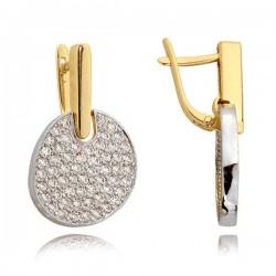 Kolczyki złote z cyrkoniami N297K