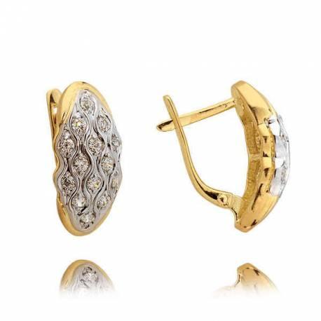 Kolczyki złote z cyrkoniami N306K