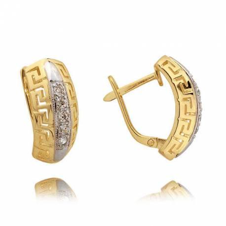 Kolczyki złote z cyrkoniami N312K