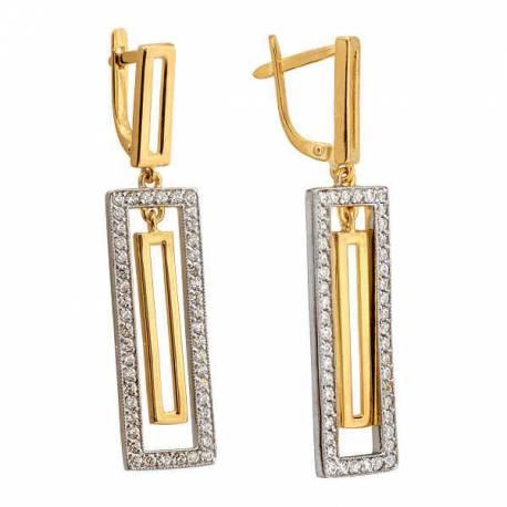 Kolczyki złote z cyrkoniami N315K