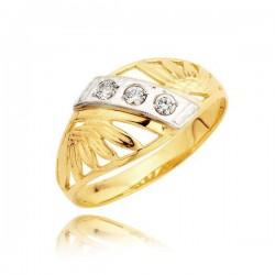 Złoty pierścionek L26