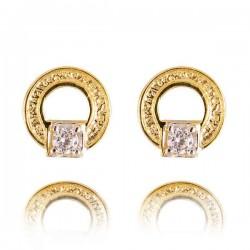 Kolczyki złote z cyrkoniami K26