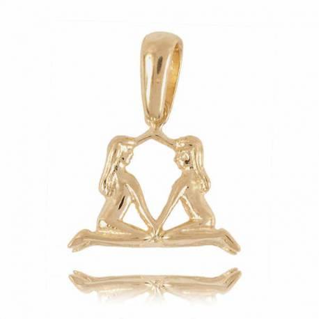 Złoty znak zodiaku Z3 BLIZNIĘTA