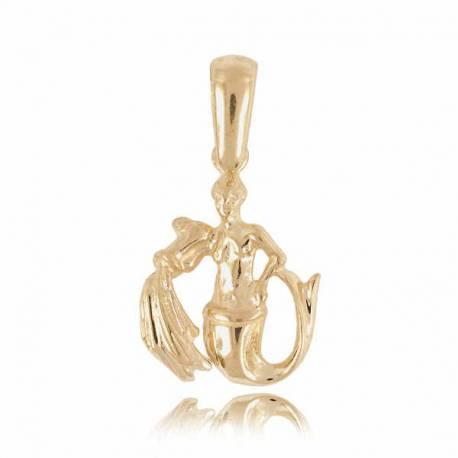 Złoty znak zodiaku Z3 WODNIK