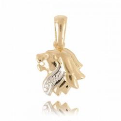 Złoty znak zodiaku Z1 LEW