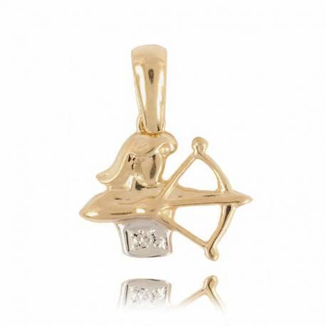 Złoty znak zodiaku Z1 STRZELEC