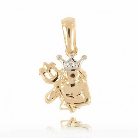 Złoty znak zodiaku Z1 WODNIK
