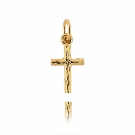 Wisiorek,złoty krzyżyk KR9