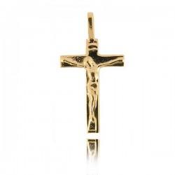 Wisiorek,złoty krzyżyk KR16