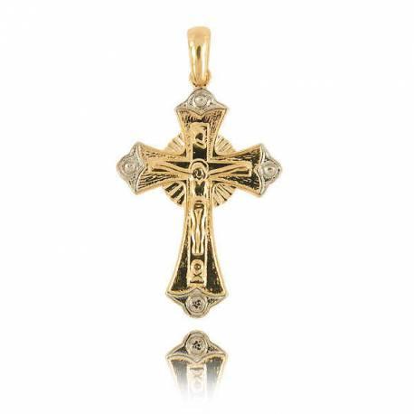 Wisiorek,złoty krzyżyk KR18