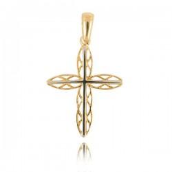 Wisiorek,złoty krzyżyk KR22