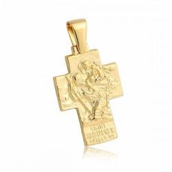 Wisiorek,złoty krzyżyk KR25