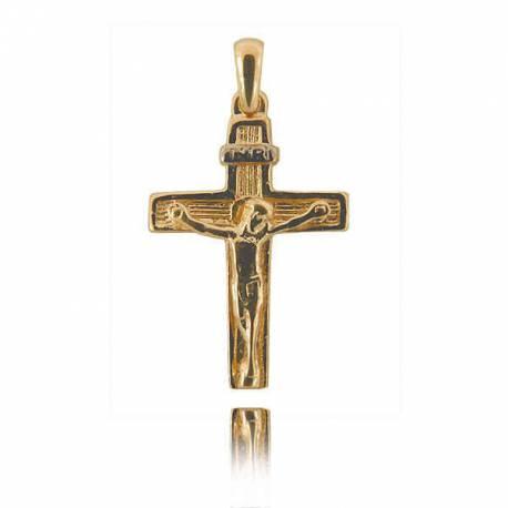 Wisiorek,złoty krzyżyk KR27