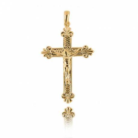 Wisiorek,złoty krzyżyk KR29