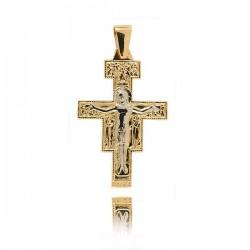 Wisiorek,złoty krzyżyk KR30