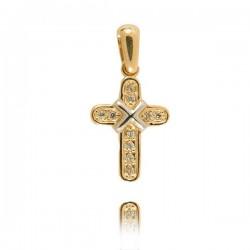 Wisiorek,złoty krzyżyk KR34