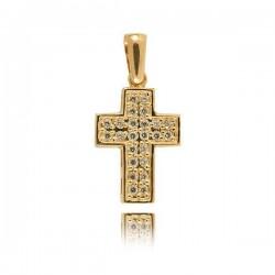 Wisiorek,złoty krzyżyk KR35