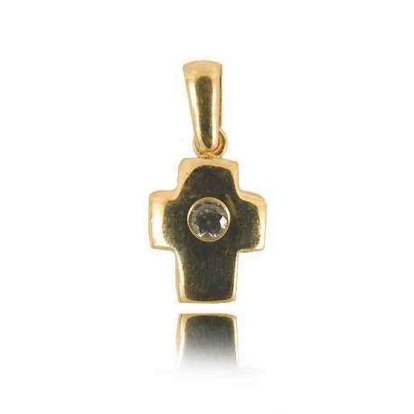 Wisiorek,złoty krzyżyk KR37