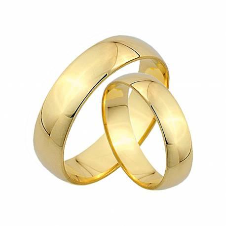 Klasyczne półokrągłe obrączki z żółtego złota