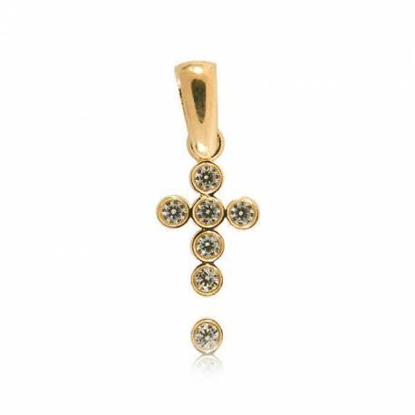 Wisiorek,złoty krzyżyk KR38