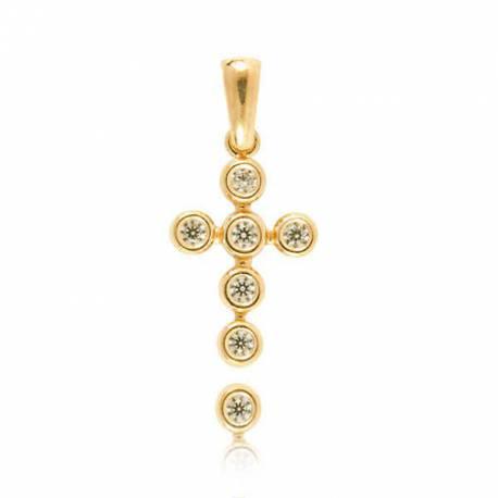 Wisiorek,złoty krzyżyk KR40