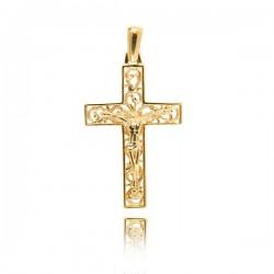 Wisiorek,złoty krzyżyk KR43