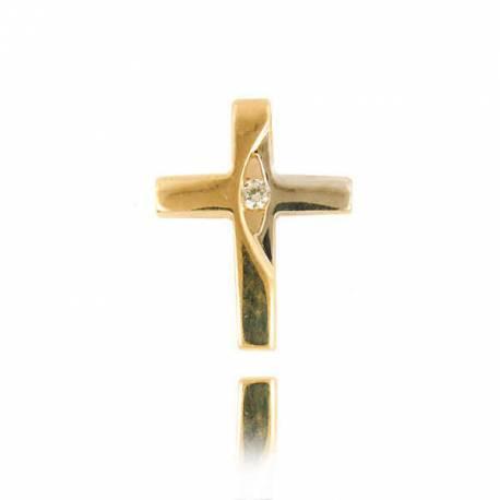 Wisiorek,złoty krzyżyk KR48