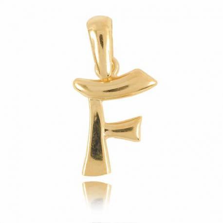 Wisiorek,złota literka F