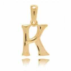 Wisiorek,złota literka K