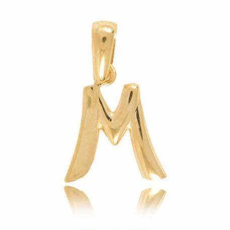 Wisiorek,złota literka M