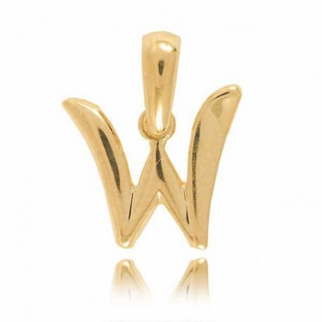 Wisiorek,złota literka W
