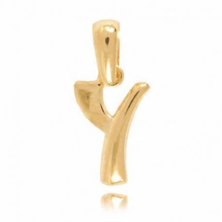 Wisiorek,złota literka Y