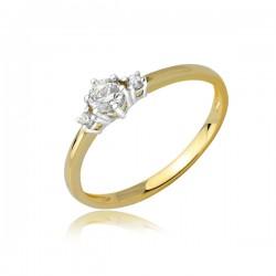 Złoty pierścionek model PB267