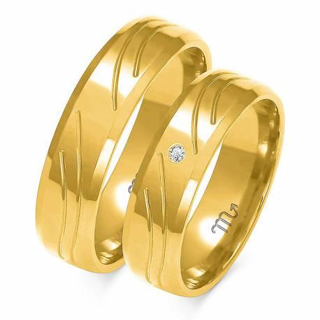 Obrączki ślubne Złoty Skorpion kolekcja Romantyczna 2015 model A123
